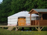 Yurt Meadow view