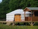 Yurt Meadow view
